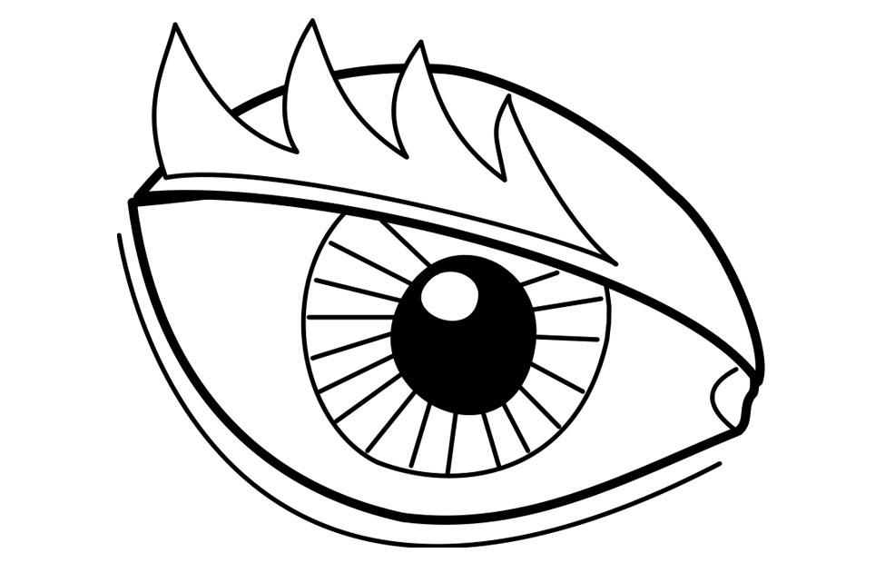 975x620 Eyes Coloring Page Az Coloring Pages Coloring Page For Eyes
