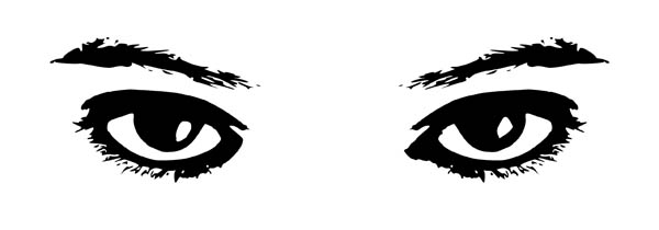 600x210 Fresh Design Eye Coloring Page Eyes Watching 2