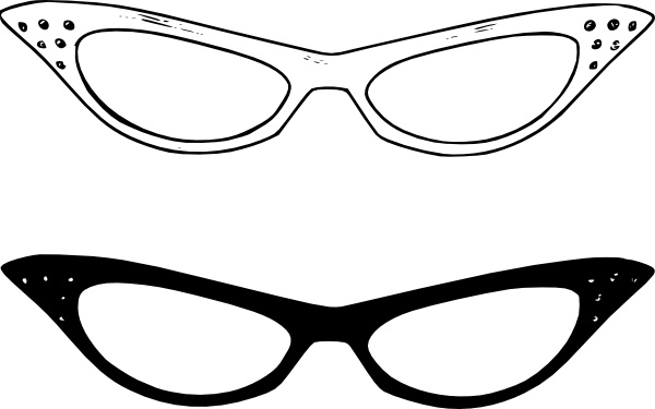 600x375 Retro Glasses Clip Art Free Vector In Open Office Drawing Svg