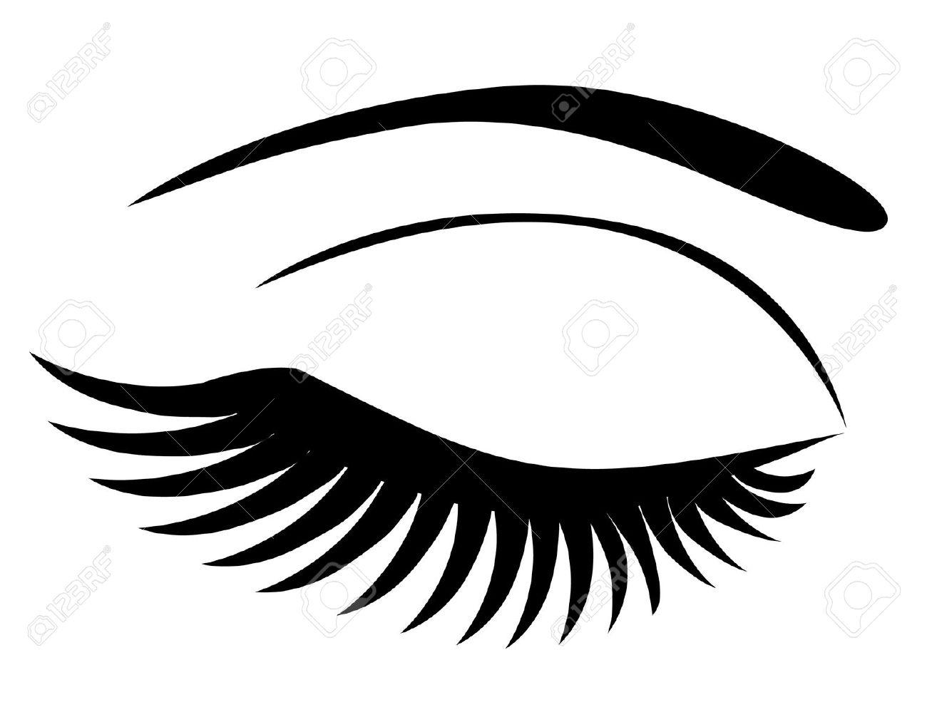 1300x1013 Eyes With Eyelashes Clipart