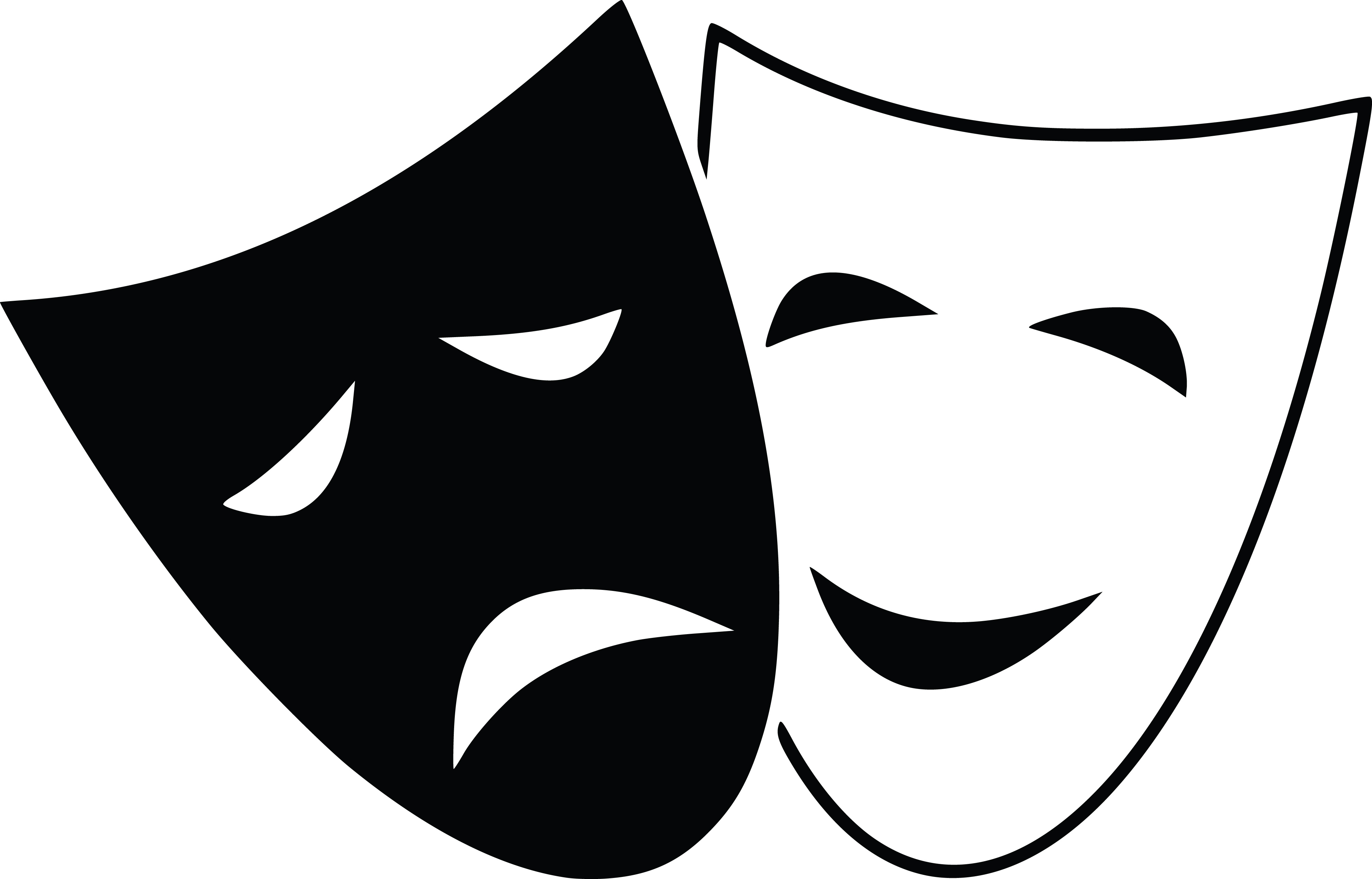 4000x2563 Clipart Of Theater Masks