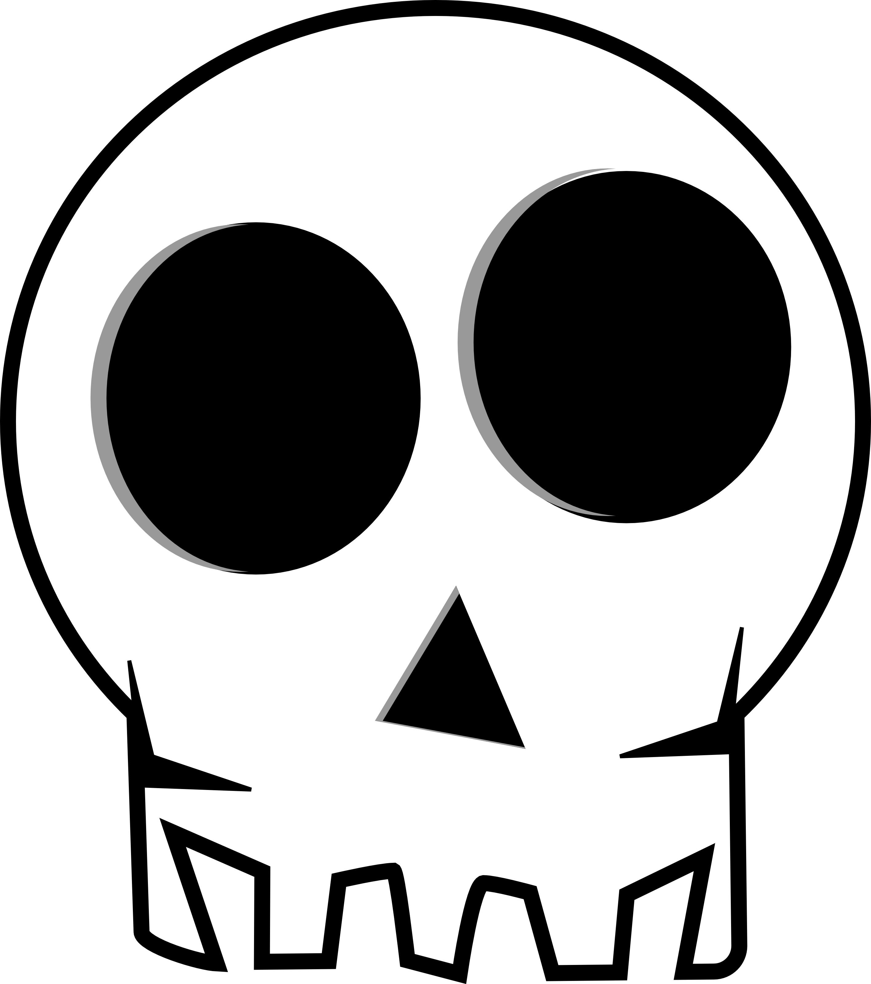 2832x3200 Halloween Skull Clip Art