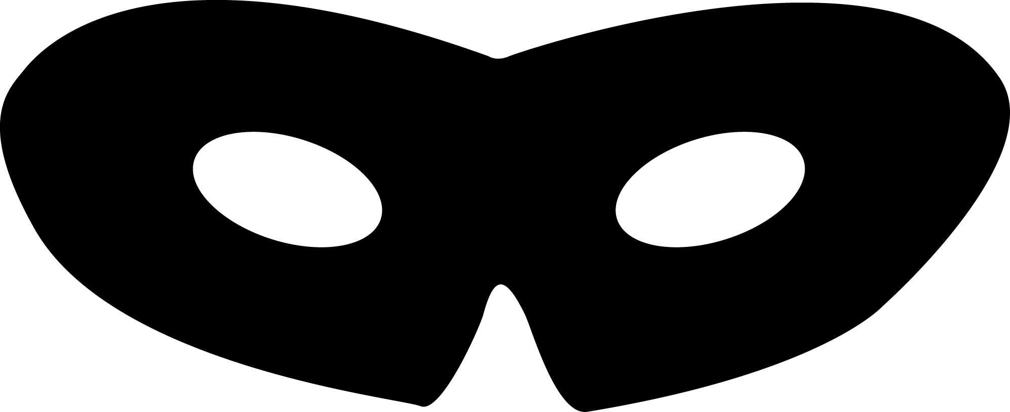 1997x816 Masks Clipart Simple