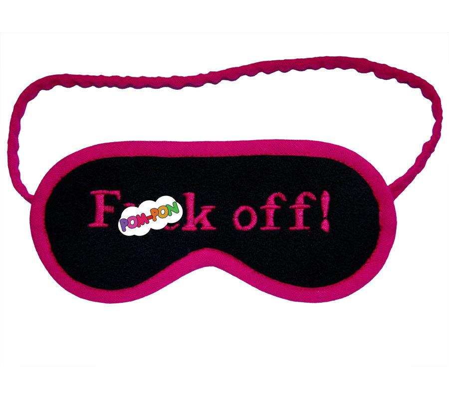 900x800 Neon Fck Off Sleep Mask Shameless Sleepmask Hot Pink