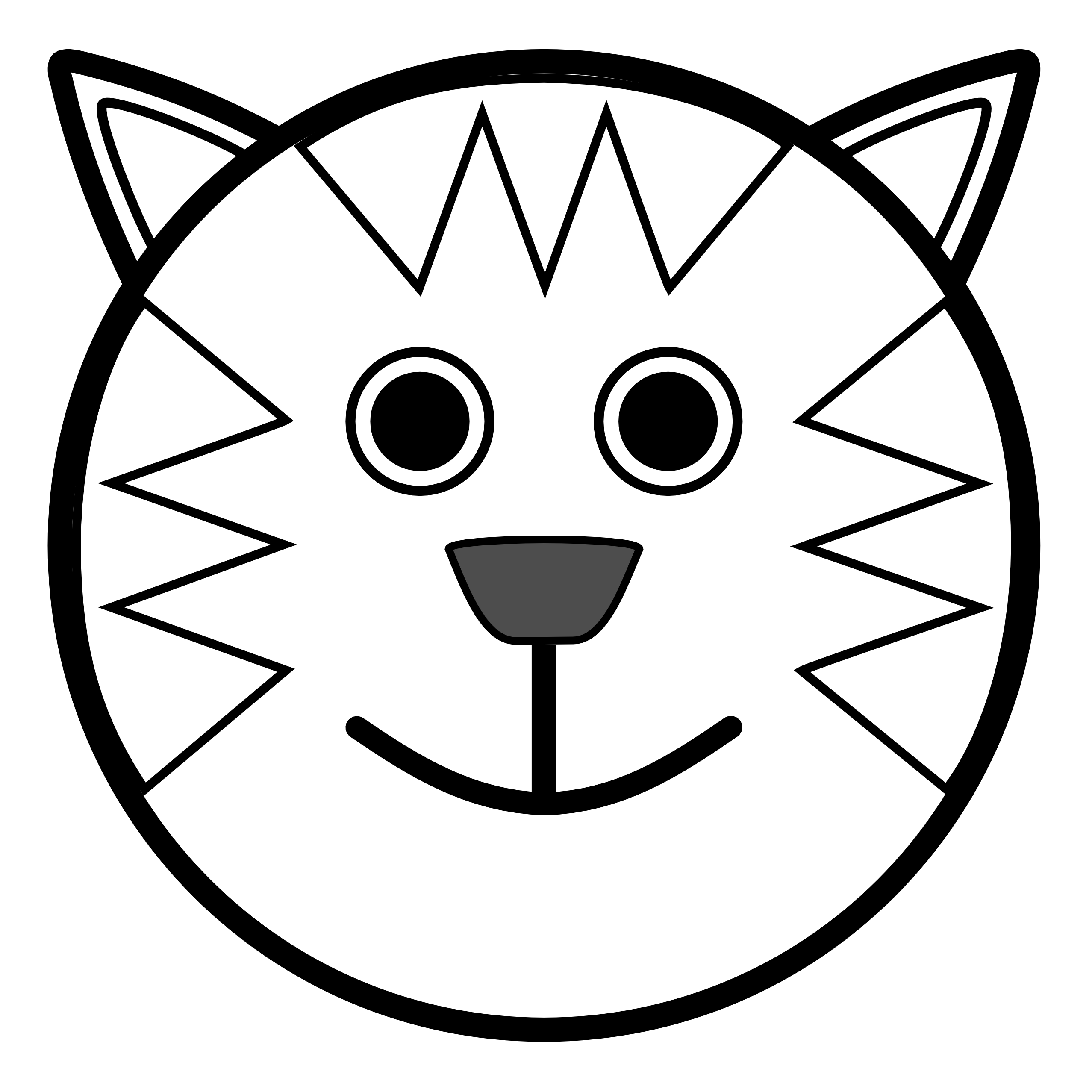 2555x2555 Black And White Animal Clipart