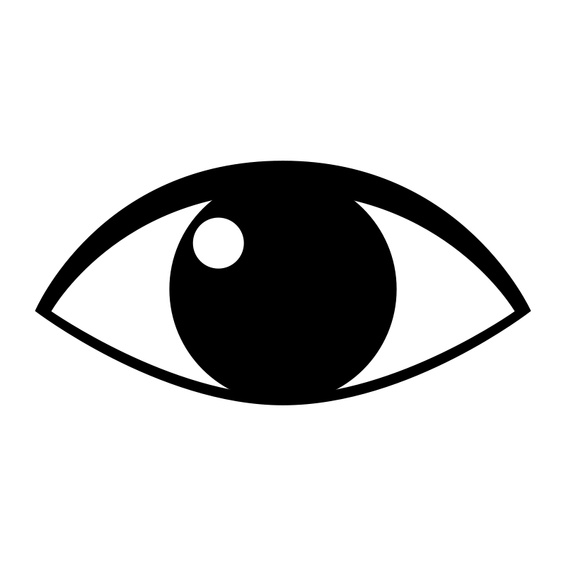 800x800 Eyeball Eye Clip Art Black And White Free Clipart Images 3