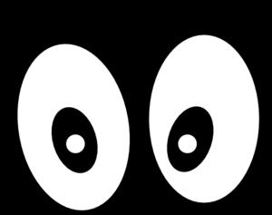300x237 Cartoon Eyes(Straight On) Black Clip Art