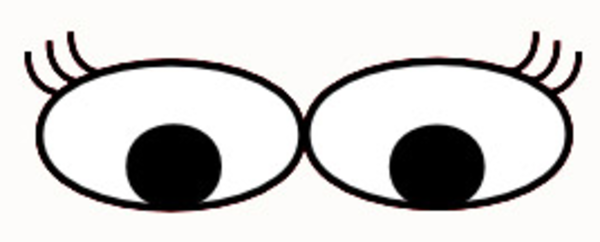 600x242 Clipart Cartoon Eyes
