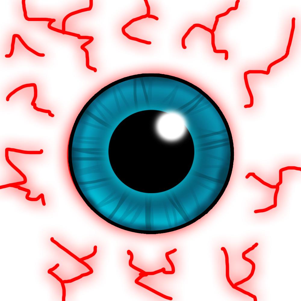 1000x1000 Bloodshot Eyes Clipart