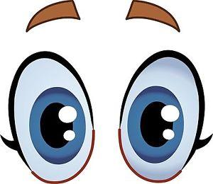 300x260 Eyes Cartoon Fun Eyeballs Car Eyes Sticker Decal Graphic Vinyl