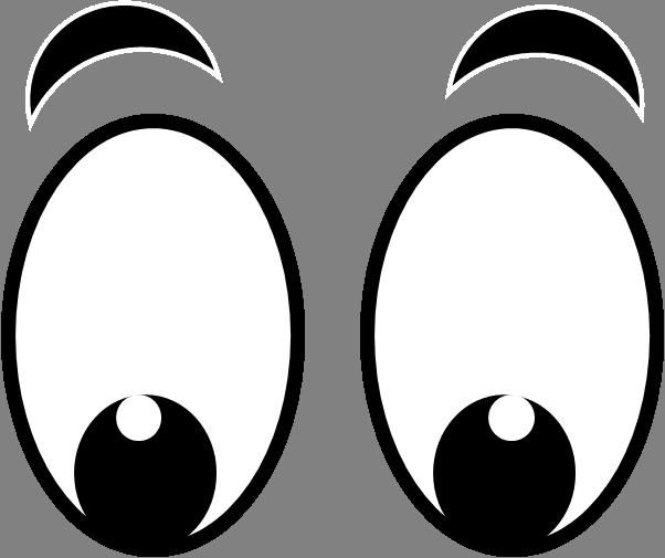 602x505 Eyes Black And White A Cartoon Eye Clipart