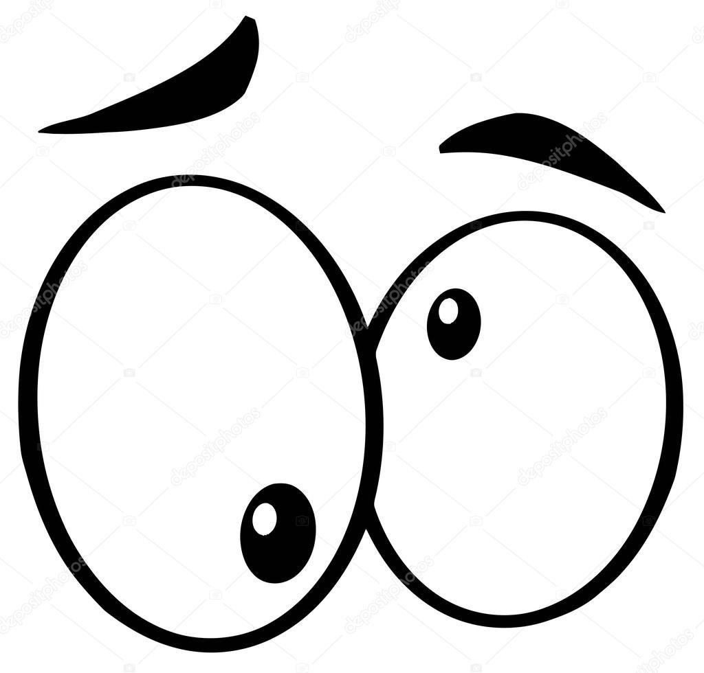 1024x980 Outlined Crazy Cartoon Eyes Stock Photo Hittoon