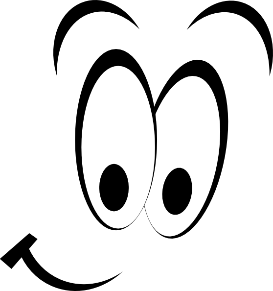 558x594 Smiley Eyes Clip Art