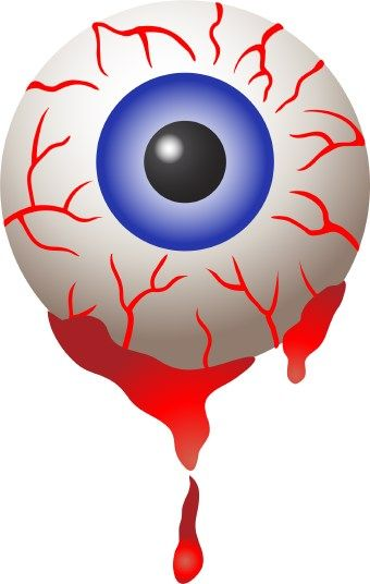 340x536 Eyeball Clip Art Of A Big Bloodshot Eye With Blood Dripping Down