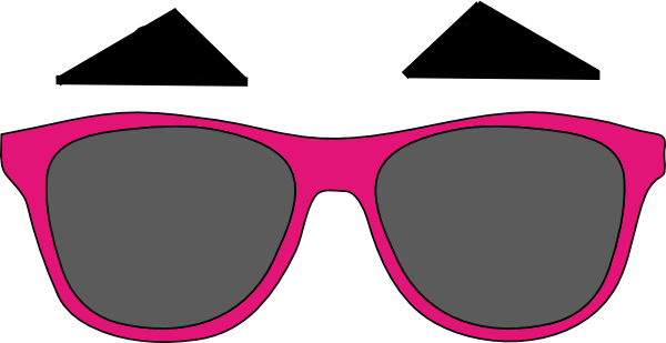 600x309 Darren Criss Eyebrows And Sunglasses Clip Art