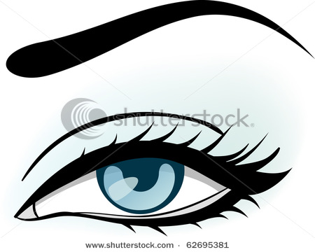 450x360 Eyeball Clipart Eyebrow