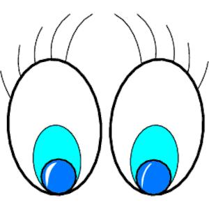 300x300 Eyeballs Clip Art Eyes With Eyebrows Clipart Kid 2