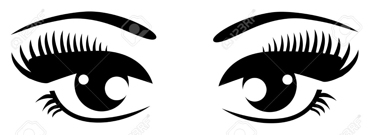 1300x470 Eyelash Clipart Closed Eye