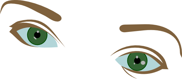 600x260 Eyes And Eyebrows Clip Art
