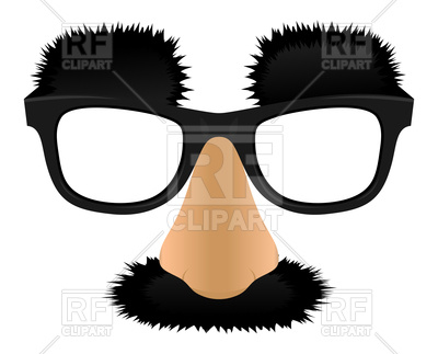 400x323 Unprofitable Nose, Moustaches And Eyebrows Royalty Free Vector