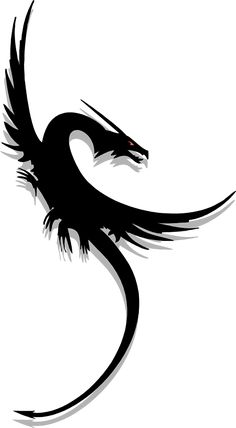 236x428 Clipart Vector Of Flying Dragon Tattoo, Vintage Engraving