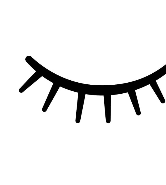 570x638 Eyelash Clipart Closed