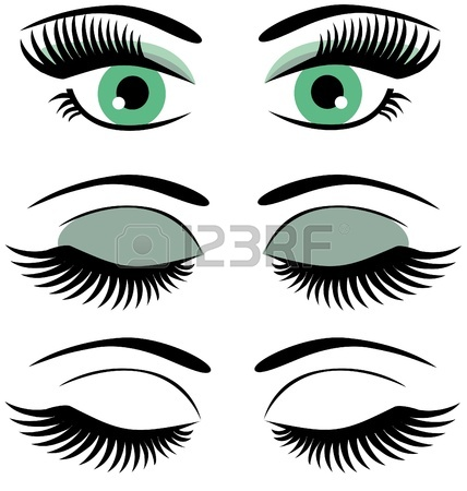 428x450 Eyelash Clipart Closed Eye