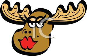 300x194 Art Image A Female Moose Batting Her Eyelashes