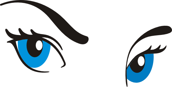 600x304 Cartoon Blue Eyes Clipart With Eyelashes