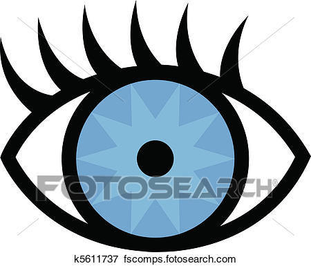 450x385 Clip Art Of Eye And Eyelashes K5611737