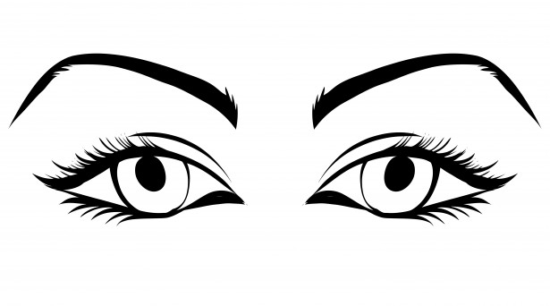 615x342 Black And White Eyes Clipart