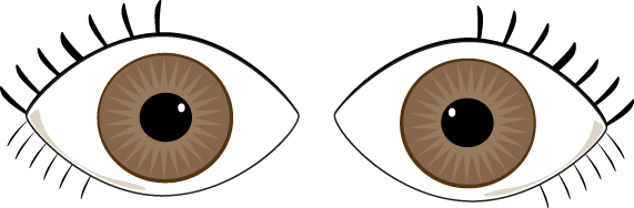 571x188 Eyes Looking With Mustache Clipart Collection