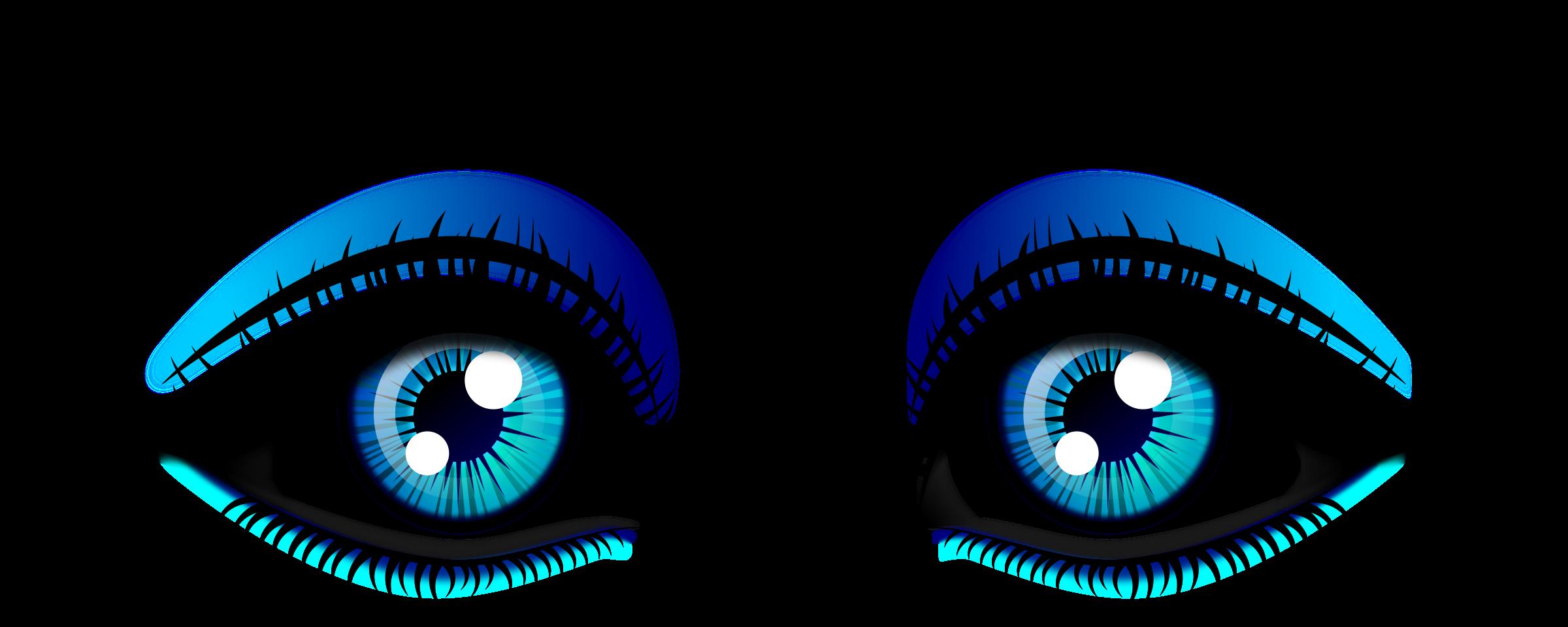 2400x960 Girl Eyes Clipart