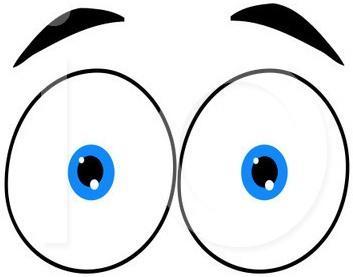 353x277 Peering Eyes Clip Art
