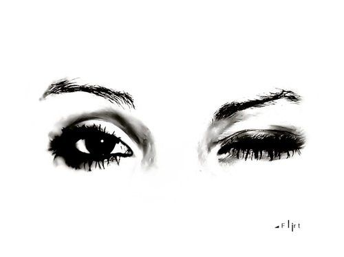 Eyes Black And White