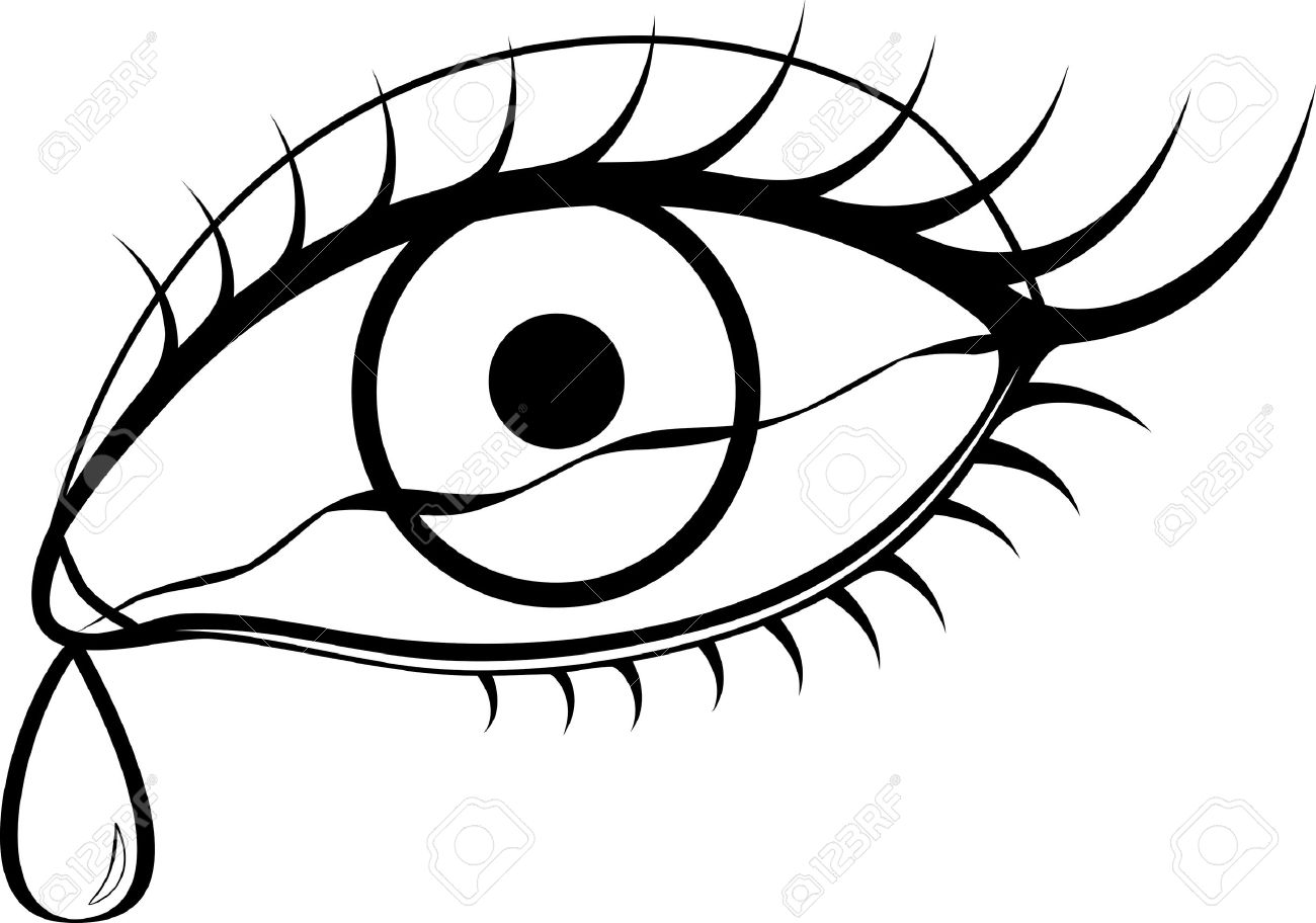 1300x912 Crying Eyes Clipart