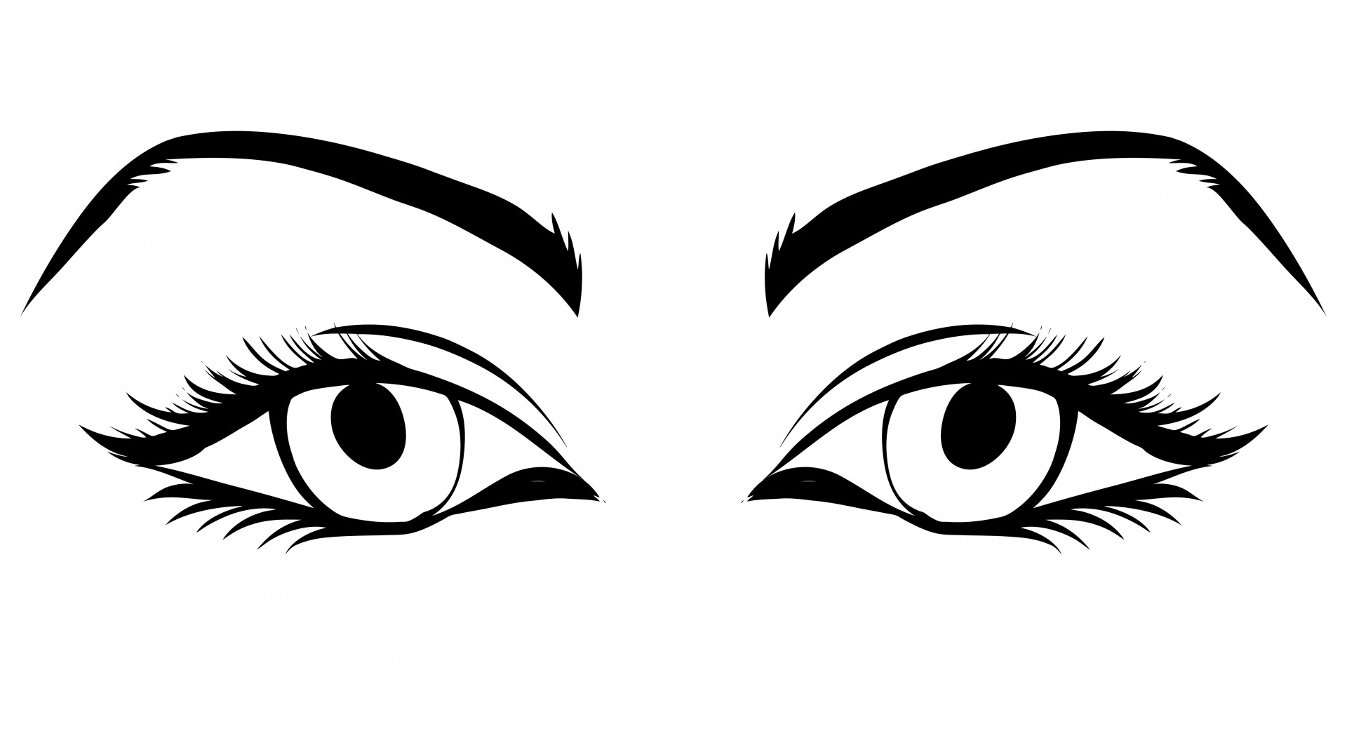 1920x1069 Eyes Of Woman Clipart Free Stock Photo