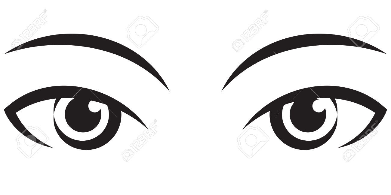 1300x650 Pair Of Eyes Clipart Black And White