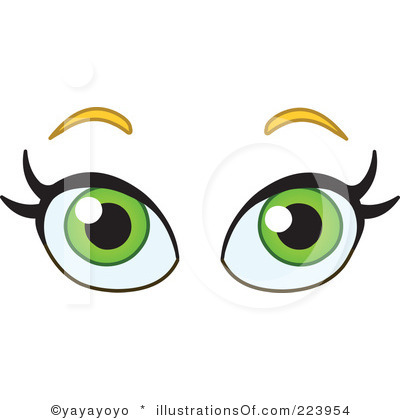 400x420 The Word Look With Eyes Clipart