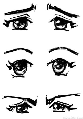 eyes looking down clipart
