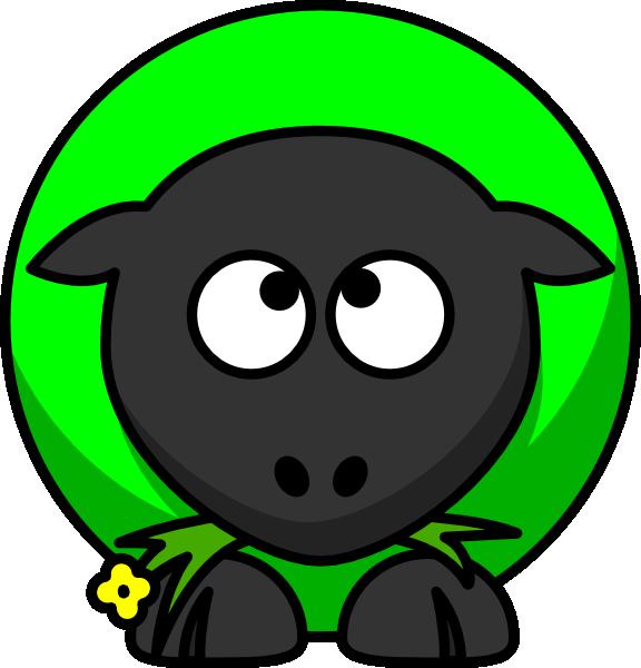 576x600 Sheep Looking Cross Eyed Up Clip Art