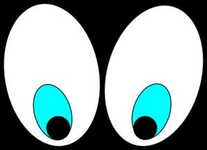 299x216 Cartoon Eyes(Looking Down) Clip Art