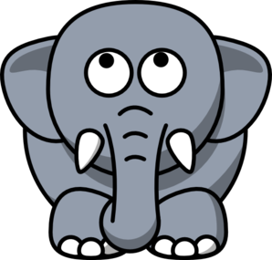 298x285 Elephant Looking Up Clip Art