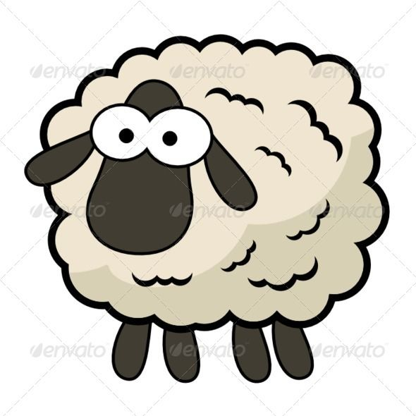590x590 Cartoon Sheep Cartoon, Huge Eyes And Clip Art
