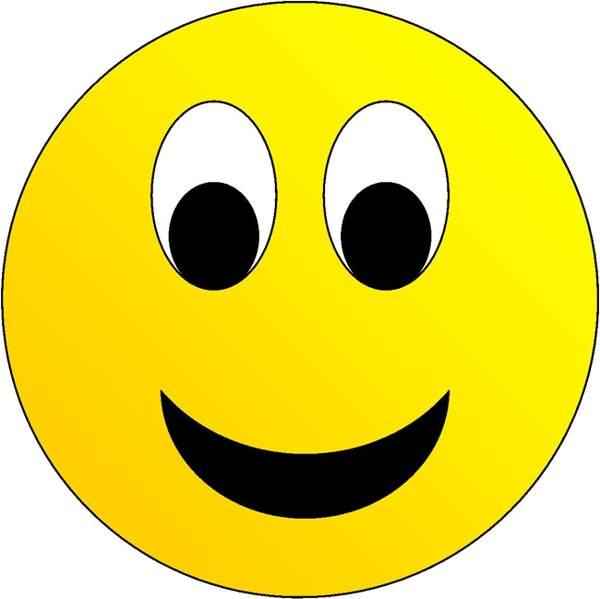 600x599 Happy Smiley Face Clipart
