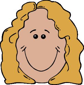 297x298 Lady Face Clip Art