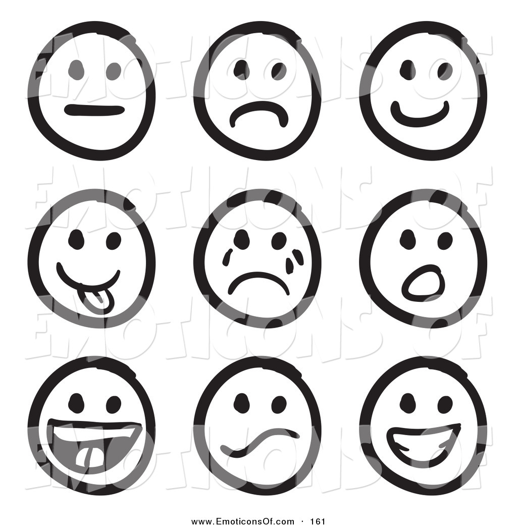 1024x1044 Emotions Clipart Black And White
