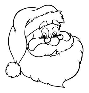 289x300 Santa Cartoon Clipart Image