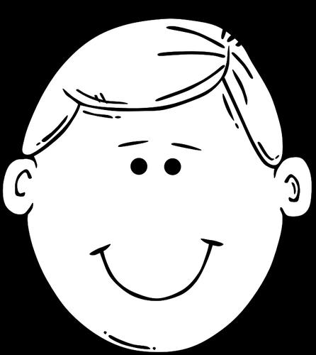 446x500 Young Boy Smiling Outline Vector Image Public Domain Vectors