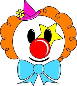 268x300 Clown Face Clipart
